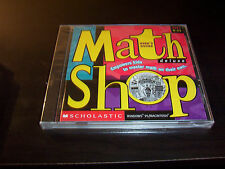 MATH SHOP DELUXE SCHOLASTIC PC MAC CD ROM W/USER'S GUIDE AGE 8-13 COMPLETE NEW