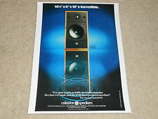 Celestion SL6 Ultimate Small Speaker Ad, 1984, 1 page, Beautiful!