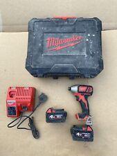 Milwaukee M18 18v M18BID Cordless Impact Driver + 2x 4ah M18 Battery + Charger