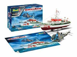 """Revell 05683 Gift Set - DGzRS """"Arkona"""" & Sea King Mk 41 1:72 Plastic Model Kit"""