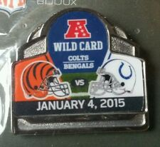 CINCINNATI BENGALS vs INDIANAPOLIS COLTS GAME DAY PIN 1/4/15 AFC WILD CARD GAME