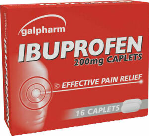 """16x IBUPROFHEN 200MG TABLETS For PAIN RELIEF -Migraine MAX Order Quantity is """"2"""""""