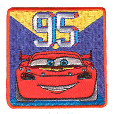 """Iron on patches - CARS 2 """"LIGHTNING MC QUEEN 95"""" Disney - colorful - 6 x 6 cm -"""