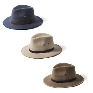 Failsworth Irish Linen Classic Safari Fedora Hat UPF40+ 3 colours Sized