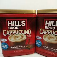 Hills Bros. Cappuccino Double Mocha Sugar Free Drink Mix (2)  16 oz. Ea. Splenda