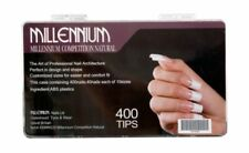 Millennium Professional Nail Tips - 400 Box - COMPETITION NATURAL - Sizes 1-10