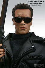 SIDESHOW ARNOLD SCHWARZENEGGER TERMINATOR 2 T-800 SIXTH SCALE FIGURE STATUE BUST