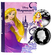 2016 Niue $2 1 Oz Colorized Silver Disney Princess Rapunzel in OGP SKU39299