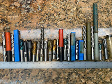 New listing 15pcs! Lot 1/2� Usa Made Hss Endmill Used & Unused DoAll Niagra Other G469