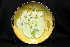Vintage RS Germany Porcelain Double Handle Lilly Serving Plate Platter