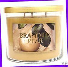 1 Bath & Body Works White Barn BRANDIED PEAR 3-Wick Large Candle 14.5 oz Jar