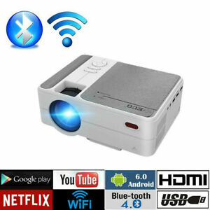 LED LCD 3500lms Mini Smart Projector HD 1080p Wifi Android Home Theater Netflix