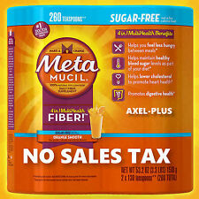 Metamucil MultiHealth Fiber, Sugar Free, 260 Doses. (NO SALES TAX*) NEW!
