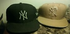 New York Yankees New Era Mens fitted hats 7 1/8, 7 1/4