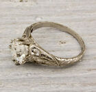 Antique 2.00Ct White Round Art Deco Engagement Ring In Solid 925 Sterling Silver