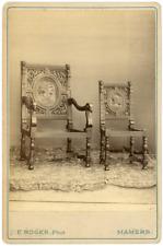 France, Chaises sculptées, ca.1880, vintage albumen print vintage albumen print