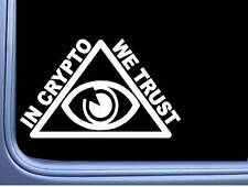 In Crypto We Trust Pyramid L755 6 inch Sticker bitcoin illuminati Decal