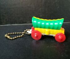 Vintage Take-apart Puzzle Keychain Covered Wagon toy 1960s