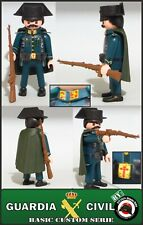 GUARDIA CIVIL PLAYMOBIL CUSTOM BENEMERITA POICIA GENDARM SOLDADO EJERCITO WW2 05