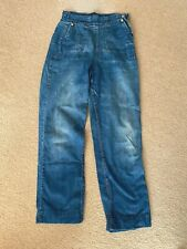 New listing 1950's Vtg Ladies' Jeans *Side Zip * Pearl & Bronco snaps * Great condition!