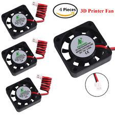 4 Pcs 3D Printer Fan 12V 0.08A DC Mini Quiet Cooling Fan 40X40mm with 28cm Cable