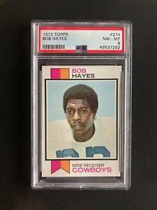 1973 Topps 274 Bob Hayes PSA 8 COWBOYS