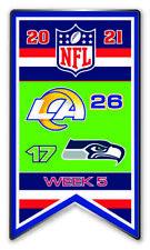 2021 Semaine 5 Bannière Broche NFL L. A. Los Angeles Rams Vs Seattle Seahawks