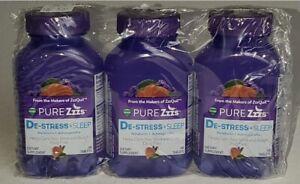 3 Pack Vicks Pure Zzz's De-Stress & Sleep Melatonin - Best By 2/2021