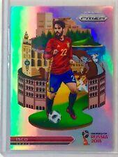 2018 Panini Prizm World Cup National Landmarks Isco Silver Prizm