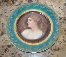 19th century Royal Vienna Style Hutschenreuther Portrait Plate Marked 7010