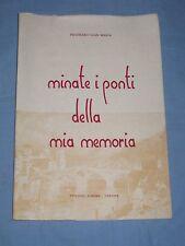 MINATE I PONTI DELLA MIA MEMORIA - Gian M. Pegoraro - Edizioni dell'Aurora (H3)
