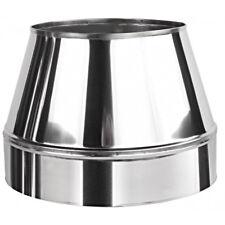 CONO superiore in acciaio inox 150mm/220mm per doppia parete isolata CANNA FUMARIA Cappuccio