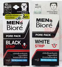 2x Biore Men Nose Deep Cleansing Pore Pack Refreshing Cool 10 Strips Black White