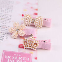 New Design Girls Hair Accessories Pearl With Bow Hairpin Princess Baby Hair Clip