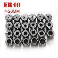 23 Pcs ER40 4-26mm Precision Spring Collet Set CNC Milling Tool Lathe Engraving