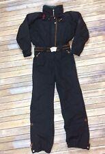 Vintage Obermeyer Women's Snow Suit Jumpsuit Southwest Print Black Teal 12 Tall