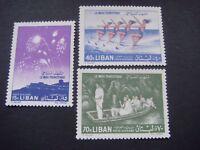 Lebanon 1961 Tourism Set of 3 stamps MNH SG 692/4 Cat £4-75