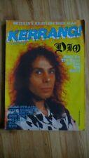 More details for kerrang no 119 rare heavy metal,rock mag 1986.dio,ac/dc.bon jovi,iron maiden