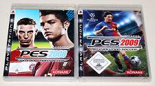 2 PLAYSTATION 3 SPIELE SET - PRO EVOLUTION SOCCER 2008 & 2009 - FUSSBALL PES PS3