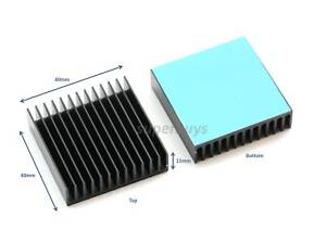 40mm x 40mm x 11mm Heatsink With Adhesive Electronic Computer Electrical Cool