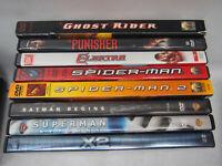 8 DVD lot super hero comic book movies DC Marvel spiderman superman batman x-men