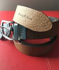 Tommy Bahama Men's Leather Reversible Belt Size 38 Brown and Blue Color NWT