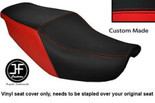 BLACK & RED VINYL CUSTOM FITS HONDA CBR 1000 F 87-88 DUAL SEAT COVER ONLY