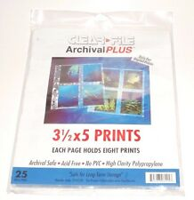 "ClearFile Archival Plus Photo Sheets (3 1/2""x5"" Prints) 10 Sheets 3 Ring Binder"