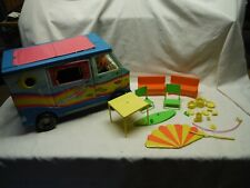 VINTAGE BARBIE BARBIE BEACH BUS WITH ACCESSORIES 1971 MATTEL