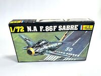 1970s N.A F-86F SABRE vintage Heller model airplane 1/72 SCALE sealed parts