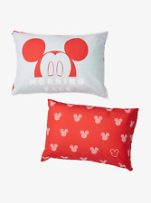 Disney Mickey Mouse Morning Face Set of 2 Pack Pillowcases Brand New