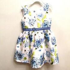 NEW Gymboree Dress Blue White Floral Formal Party Dressy Sleeveless Bumbl Bee 4T