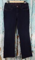 Simply Vera Wang Women's Jeans Size 4 Bootcut Dark Blue Stretch 28x30 Hemmed