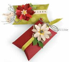 Sizzix Pillow Case & Poinsettias Thinlits Die Set 660660:: Fleurs Boîte Cadeau